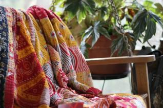 Hand Stiched sari blankets